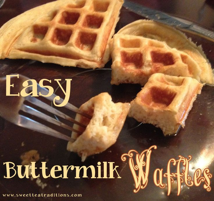 Easy Buttermilk Waffles with sweetteatraditions