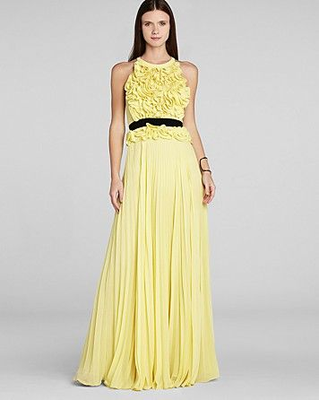 Yellow wedding dress this number is pure adorable