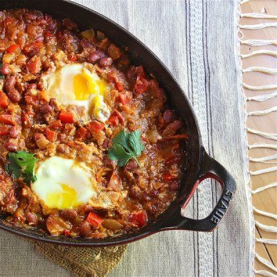 Moroccan Ragout with Poached Eggs Recipe - The Wimpy Vegetarian