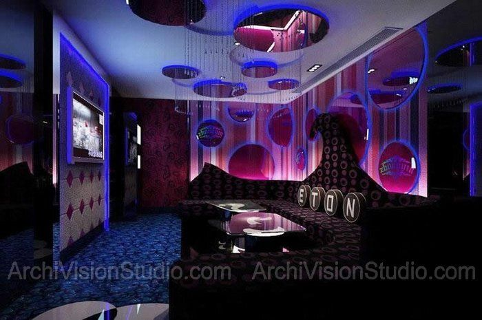 Private karaoke rooms night club pinterest for Living room karaoke