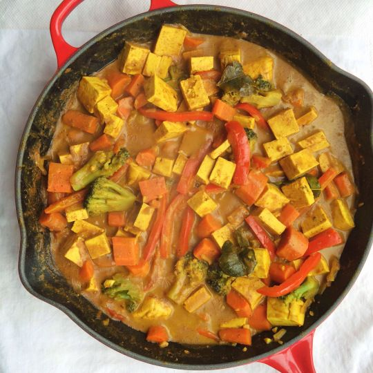 Panang Curry with Tofu & Vegetables | Slop Food (throw it all togethe ...