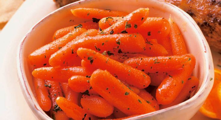 Ginger Glazed Carrots...maple syrup or agave instead of honey for ...