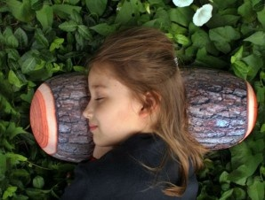 Log Pillow - Now you can sleep like a log when you relaby your head and neck on this log shaped pillow.Bolster pillow features realistic three dimensional print of a log. - $15.99