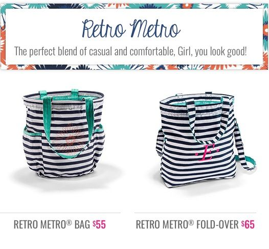 Retro Metro - Navy Wave | Thirty-One Gifts to Organize Your Life! | P ...