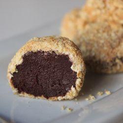 more truffles. Dark chocolate ganache, homemade marshmallow fluff ...