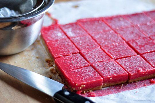 Cranberry Curd Bars with Walnut Shortbread Crust | Recipe