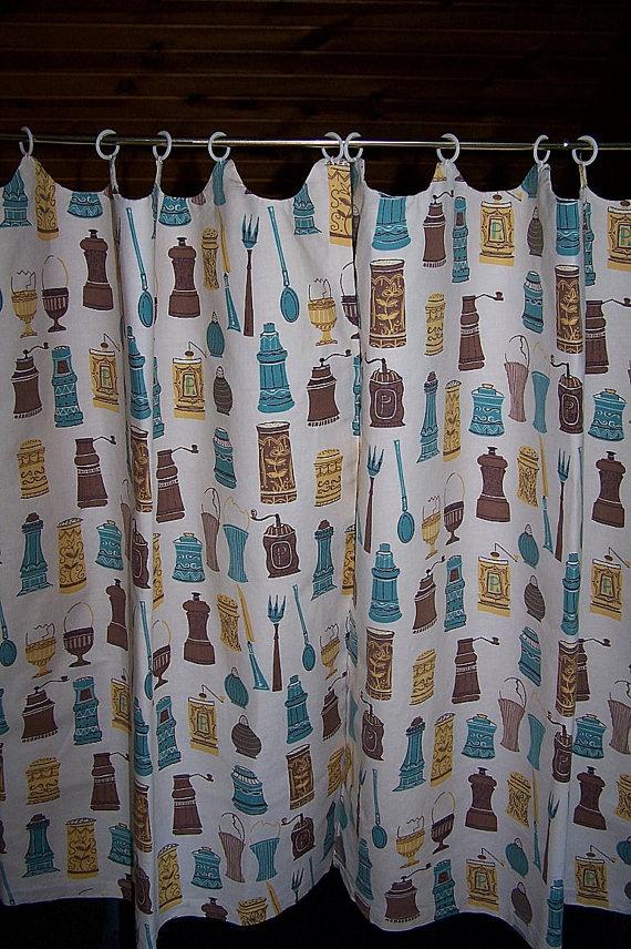 Vintage Kitchen Cafe Curtains Nostalgia Pinterest