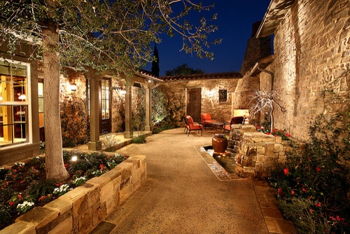 Mediterranean landscape courtyard for the home pinterest for Mediterranean courtyards photos