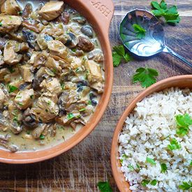 Sherry Chicken and Mushroom Casserole | Find me in the kitchen | Pint ...