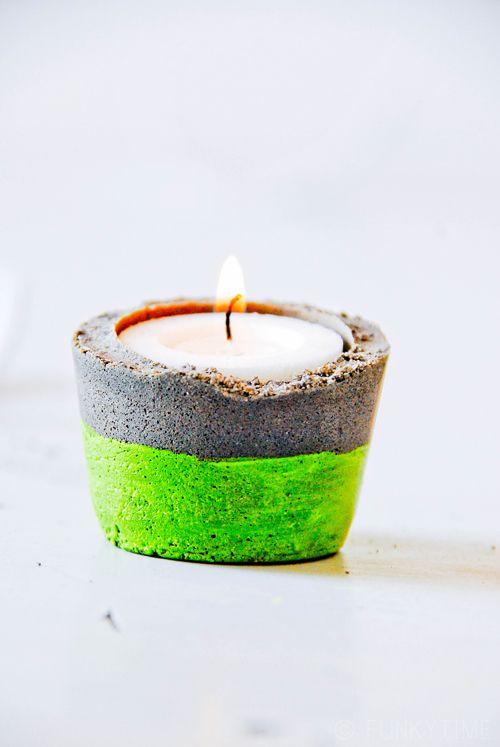 DIY: concrete candle holder