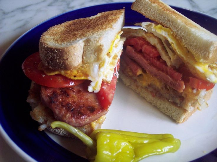 Fried Spam Sandwich Recipe | EGG SPAM BREAKFAST SANDWICHES | poormans ...