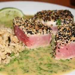 Seared Tuna with Wasabi-Butter Sauce--We made this last night and the ...