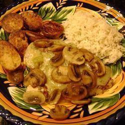 low carb~Chicken Mushroom Melt~Total Carbs: 5.5 g