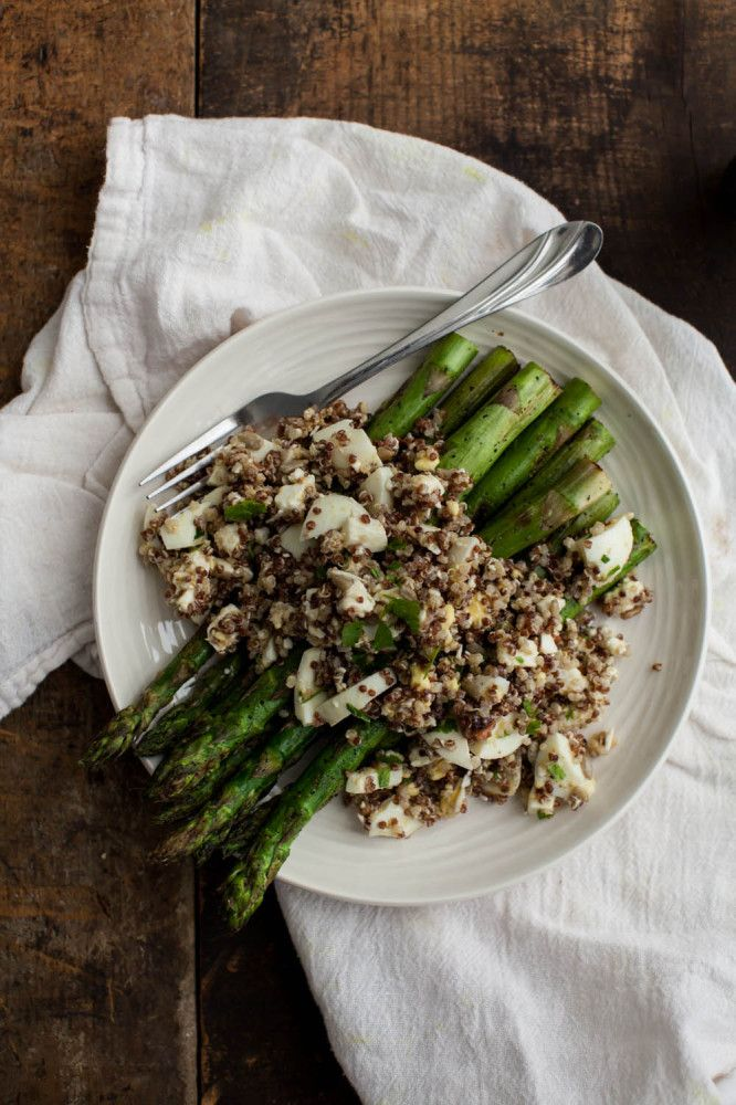 Naturally Ella | Quinoa Egg Salad with Grilled Asparagus