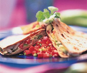 Crab and Avocado Quesadilla recipe: http://www.fitnessmagazine.com ...