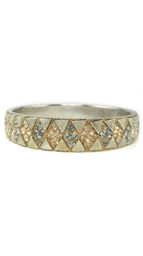 Austrian Crystal Diamond-Shaped Bangle