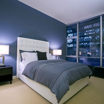 Bedroom In Cream And Blue Our Bedroom Ideas Pinterest