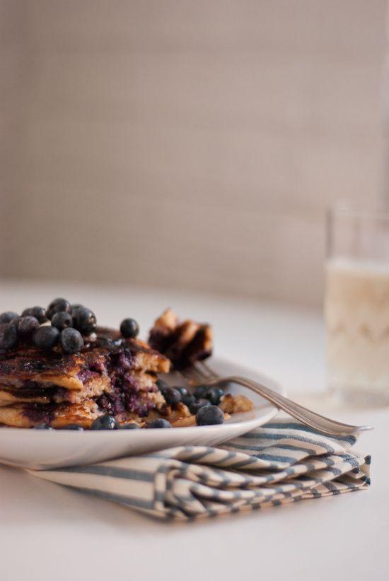 Gluten-Free Blueberry Lemon Yogurt Pancakes - Cookie and Kate