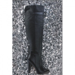 SALE - Cynthia Vincent Twelfth Street Over the Knee Boots Womens Black