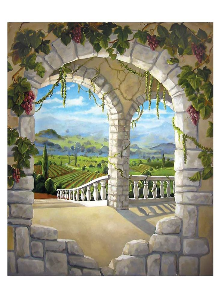 Tuscan mural for the entry way.