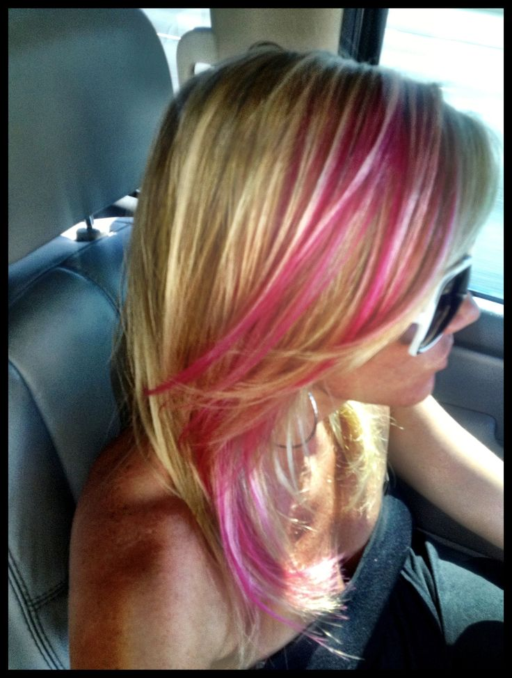 Brown hair with pink and blonde highlights hairs picture gallery brown hair with pink and blonde highlights hd pictures pmusecretfo Choice Image