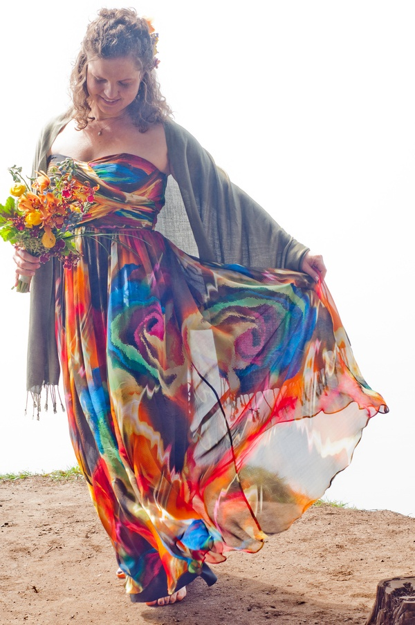 Pin by we three pinners on wedding gowns of color and with for Tie dye wedding dress