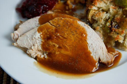 ... maple roasted turkey with sage smoked bacon and cornbread stuffing