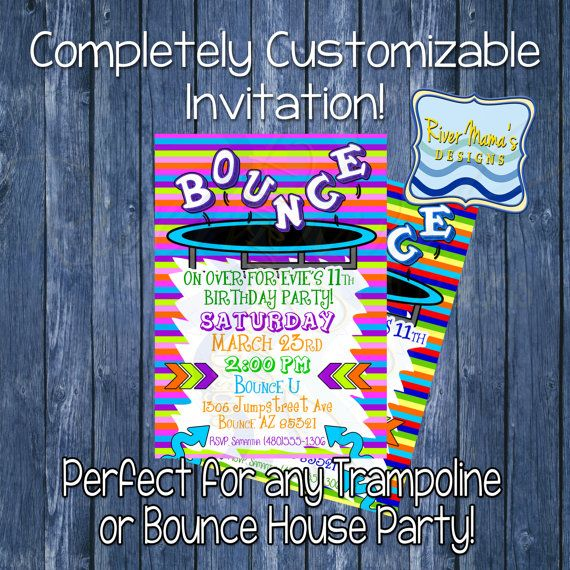 Bounce Party Invitation was adorable invitations example