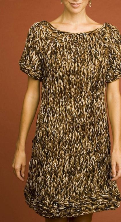 sweater dress :: free knitting pattern Knit and crochet ...