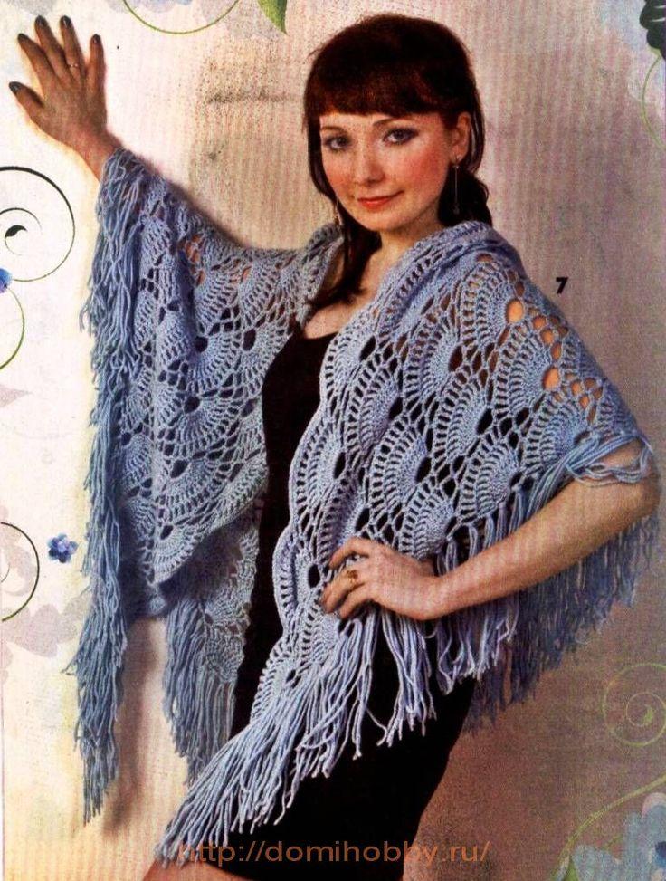 Free Crochet Shell Shawl Patterns : Shell Shawl free crochet pattern Chales Pinterest