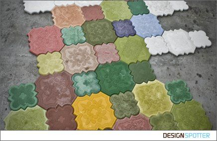 Flaster is a concrete floor and wall covering fostered from a traditional motive. Made from fiber reinforced high performance IVANKA concrete, these tiles are available both for exterior and interior usage.