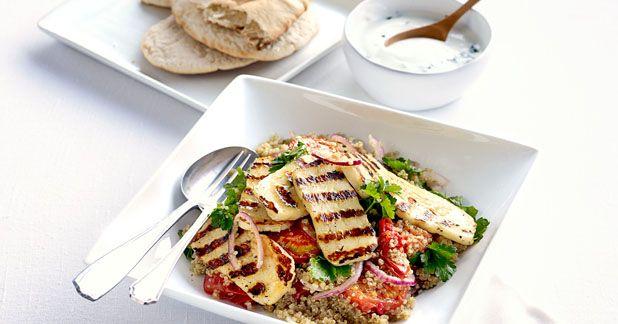 quinoa salad with halloumi | Feast | Pinterest
