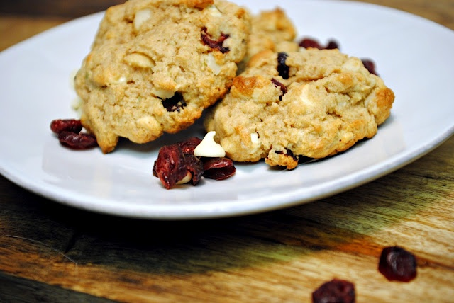cookies: cranberry, white chocolate, macadamia nut, lime. With cream ...