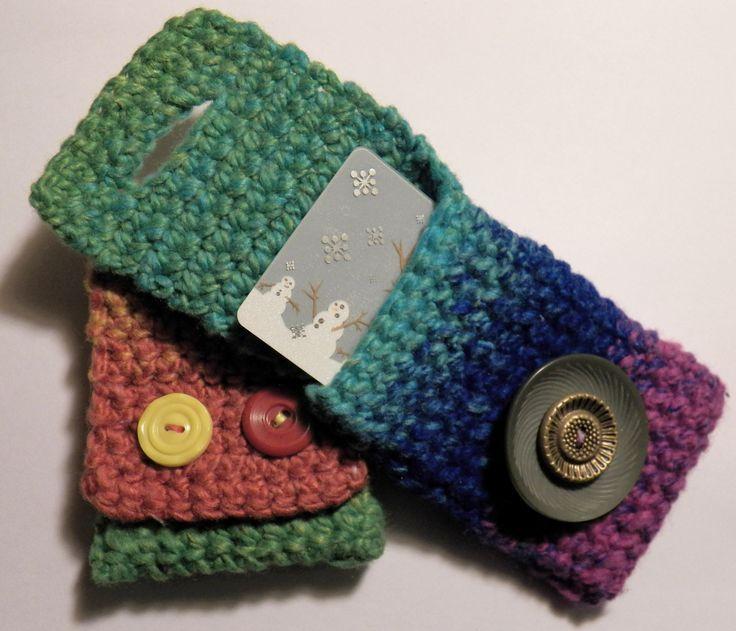 Crochet gift card holders - free pattern | Hooked on Crochet | Pinter ...