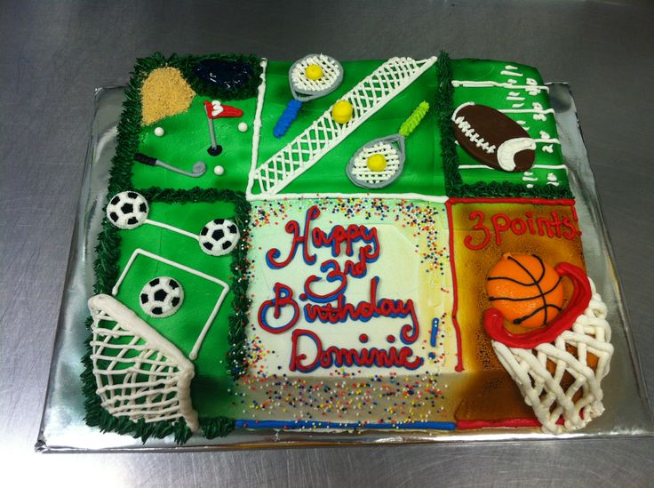 Cake Decorations For Sports : All star sports themed cake. Birthdays are very special ...