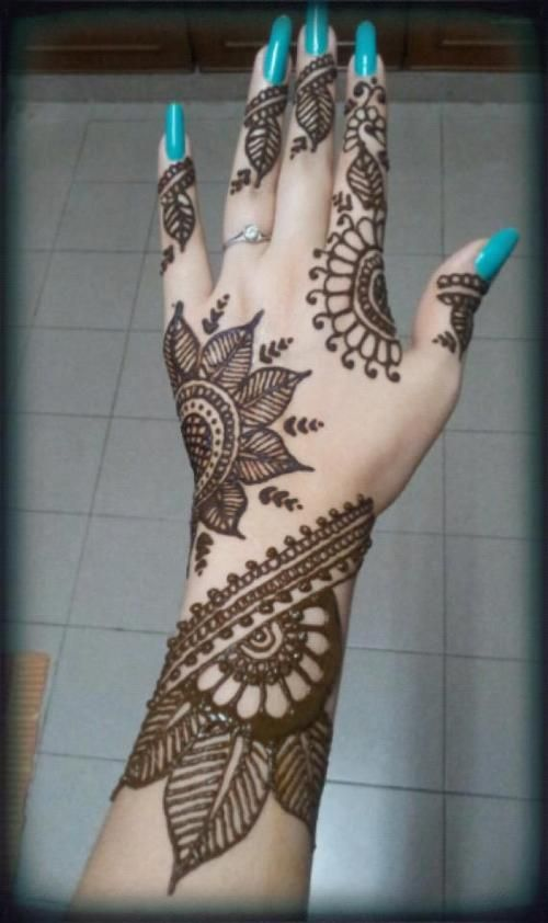 Back Hand Side Henna Design - 2