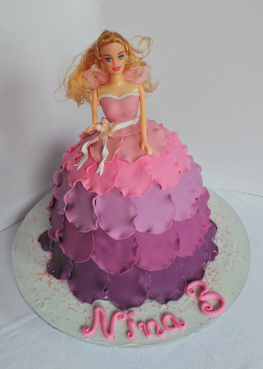 Fairy doll cake with fondant petal dress Willi Probst ...