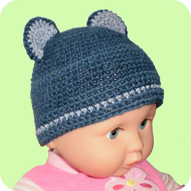 Free Crochet Pattern Baby Bear Hat Little Bear Baby Hat Free