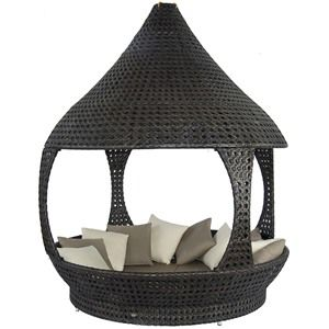 Alexander Rose Ocean Lantern Rattan Outdoor Daybed