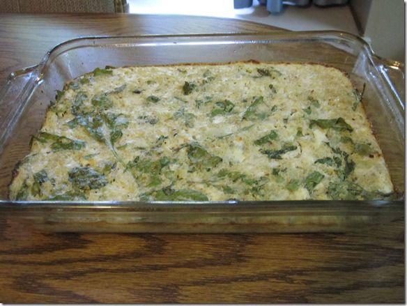Spinach Quinoa Egg Bake with Feta