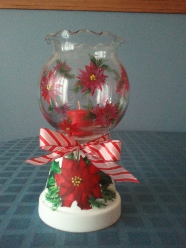 Pin by wilma marlow on clay pots pinterest for Christmas candle displays