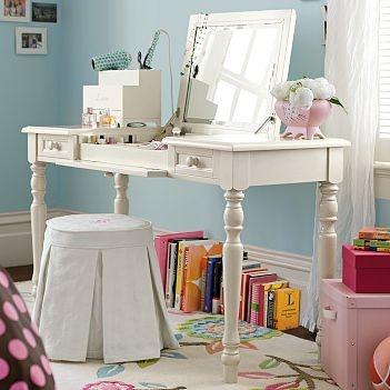 Pottery Barn: Bella Vanity Table - because i like multi-purpose things