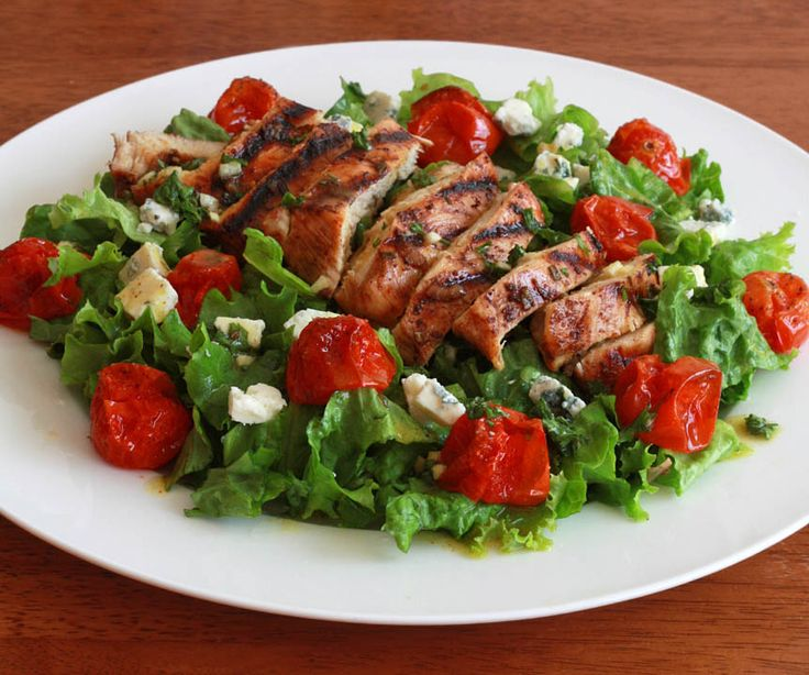Grilled Chicken and Roasted Cherry Tomato Salad with Herbed Champagne ...