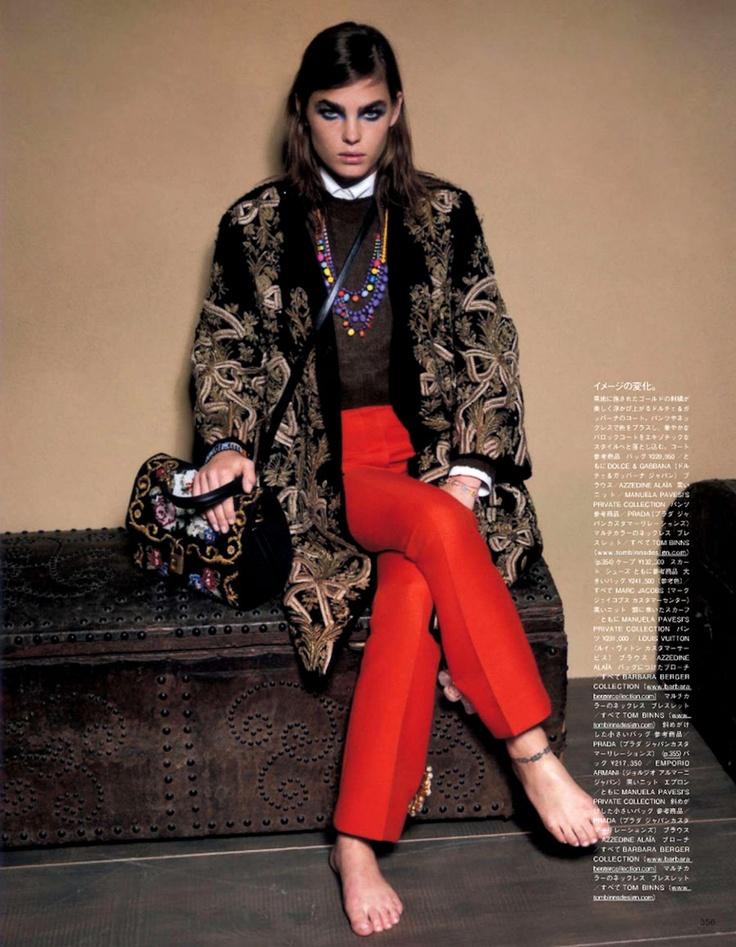 Bambi Northwood-Blyth by Manuela Pavesi for Vogue Japan October 2012