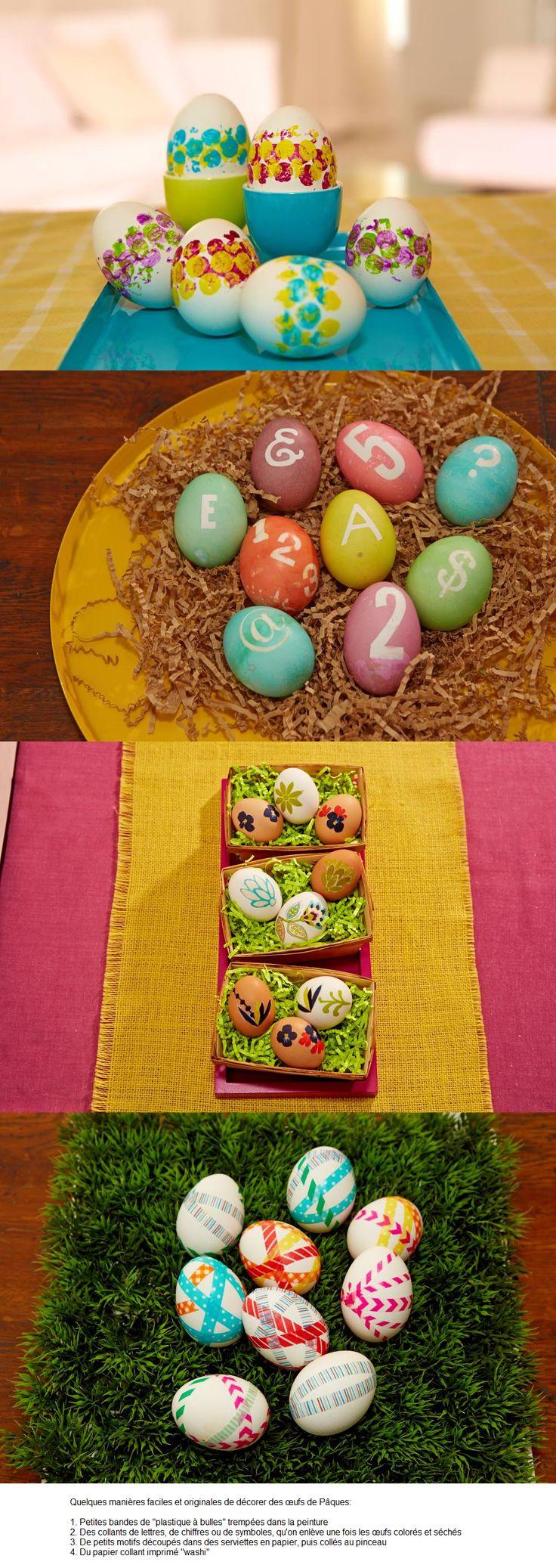 comment décorer des oeufs pour Pâques  Brico  Pinterest