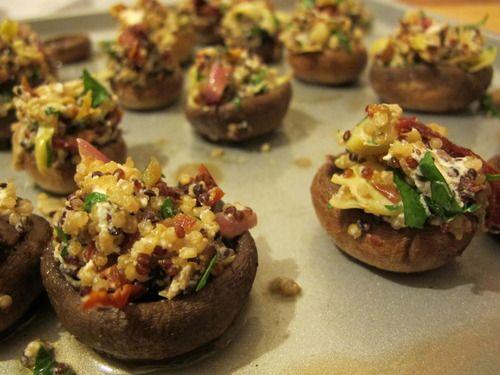 Quinoa Stuffed Mushrooms   All Things Quinoa   Pinterest