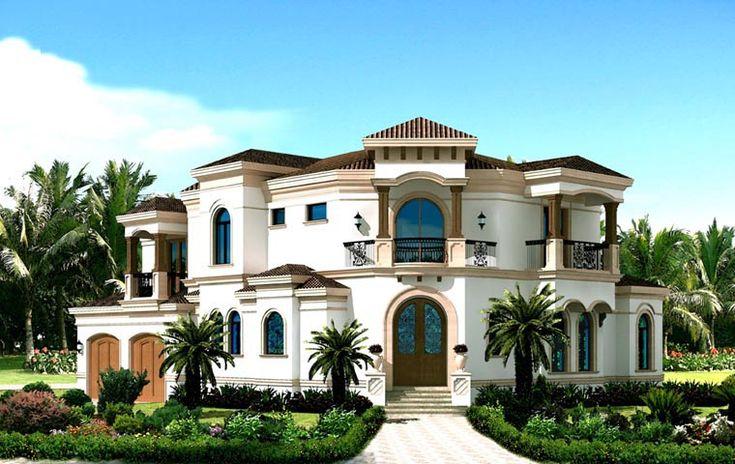 Coastal Contemporary Florida Mediterranean House Plan 71505