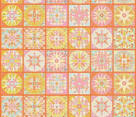 spring_sunshine_cheater_quilt_orange_M - nadja_petremand - Spoonflower