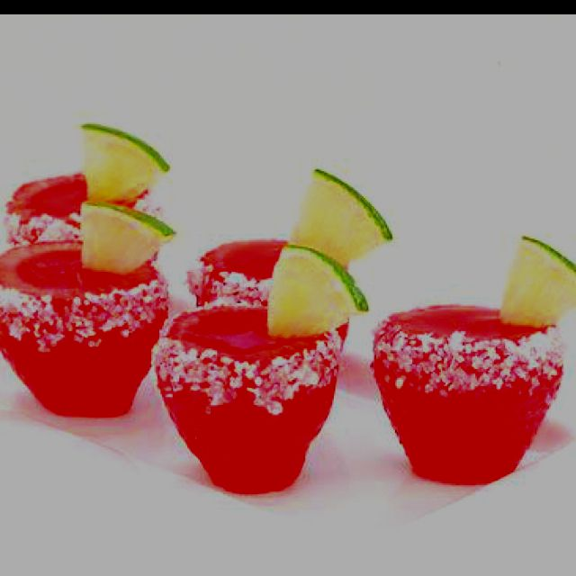 Strawberry margarita jello shot! | Liquid Culture | Pinterest