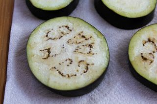 for Julia Child's Eggplant Pizzas (Tranches d'aubergine á l'itali...